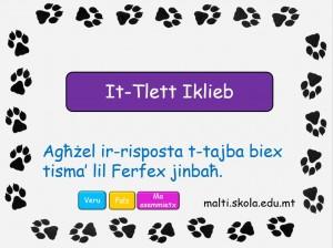 It-Tlett iklieb - mistoqsijiet interattivi 2