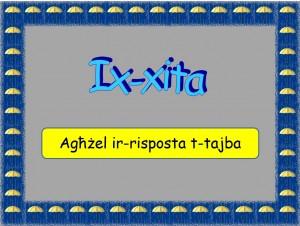 Ix-xita - mistoqsijiet interattivi