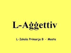 L-Aggettiv 2