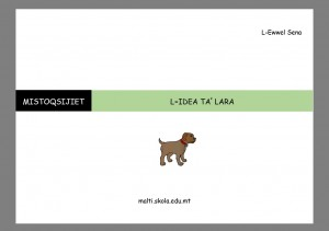 L-Idea ta Lara - karti tat-tahrig