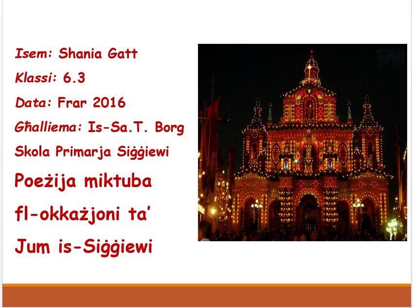Shania Gatt - Is-Siggiewi