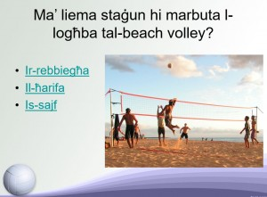 Il-Beach Volley-Kwizz