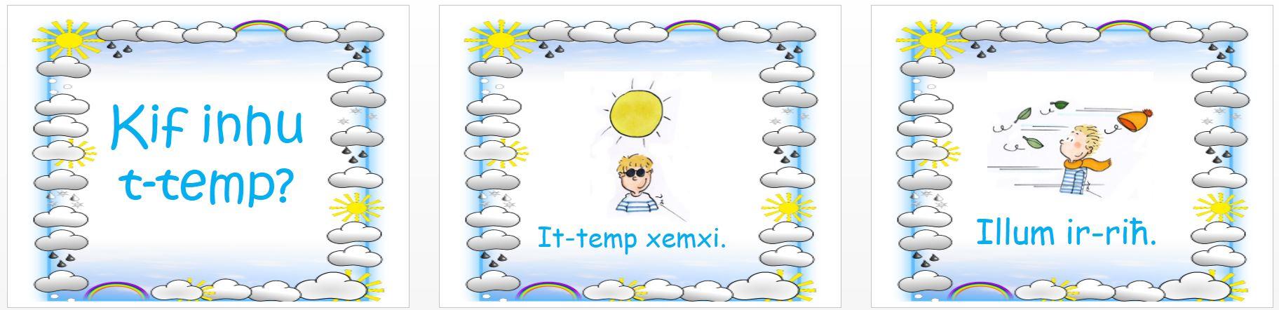 Kif inhu t-temp