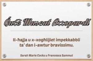 Guze Muscat Azzopardi_Prezentazzjoni
