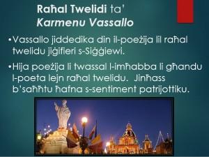 Raħal Twelidi ta' Karmenu Vassallo