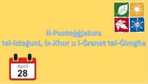 Il-Punteġġjatura tal-Istaġuni, ix-Xhur u l-Ġranet tal-Ġimgħa - Preżentazzjoni Yr 3,4