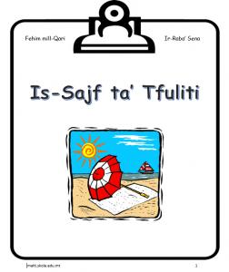 Is-Sajf ta Tfuliti