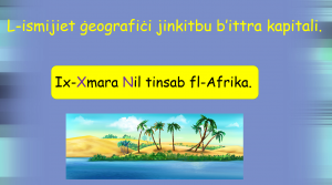 L-Ittri Kapitali - Ismijiet Geografici - prezentazzjoni Yr 5,6