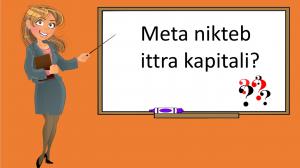 L-Ittri Kapitali - prezentazzjoni yr 3,4