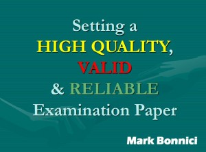 Setting Examinations Papers - Mark Bonnici 2017